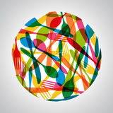 Colorful cutlery circle illustration Royalty Free Stock Photography