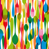 Colorful cutlery illustration Royalty Free Stock Image