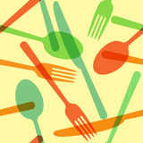 Colorful cutlery pattern Royalty Free Stock Image