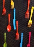 Colorful cutlery Stock Photos