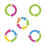 Colorful cycle arrows. Vector illustration Royalty Free Stock Image