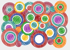 Colorful Cycle Sketch Pen Shading Effect Background Royalty Free Stock Image