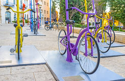 The colorful cycles Royalty Free Stock Image