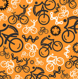 Colorful cycling background Stock Photos