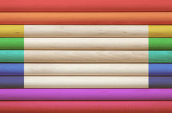 Colorful cylinder wooden background Royalty Free Stock Photography