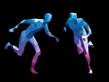 Colorful 3D abstract male Royalty Free Stock Photos