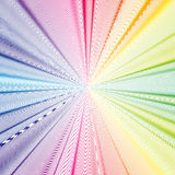 Colorful 3d background with abstract waves, lines. Bright color curves, swirl Stock Image