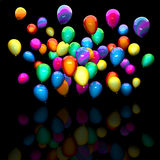 Colorful 3d balloon. 3d background of colorful balloon Royalty Free Stock Image