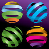 Colorful #D balls. A set of colorful 3D globes or balls Stock Images