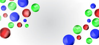 Colorful 3D balls background Royalty Free Stock Images