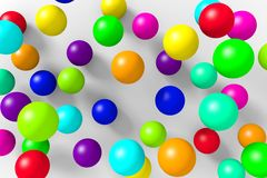 Colorful 3D balls on a white background. Abstract background to create banners, covers, posters, cards, etc Stock Images