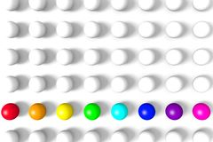 Colorful 3D balls on a white background. Abstract background to create banners, covers, posters, cards, etc Royalty Free Stock Photo