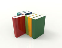 Colorful 3d books. Concept design Royalty Free Stock Photo