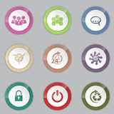 Colorful 3d button set. With various symbols Royalty Free Stock Images