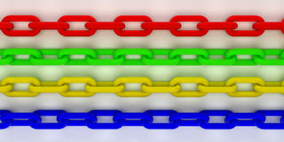 Colorful 3d chain Royalty Free Stock Images