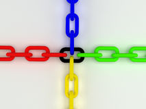 Colorful 3d chain Stock Photos
