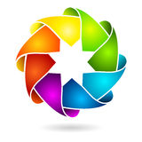 Colorful 3D circle or ring stock illustration