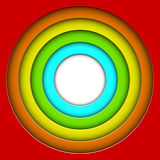 Colorful 3D circles. Abstract colorful 3D circles background with copy space Royalty Free Stock Photography