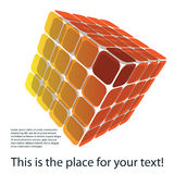 Colorful 3D Cube Illustration Royalty Free Stock Images