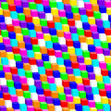 Colorful 3D cube in a seamless pattern Royalty Free Stock Photography