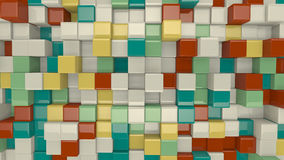 Colorful 3D cubes Royalty Free Stock Image