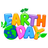Colorful 3D Earth Day Letters Stock Photography