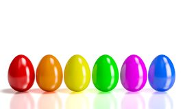 Colorful 3d eggs Stock Images