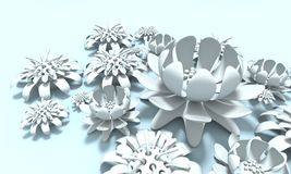 Colorful 3d flower Royalty Free Stock Images