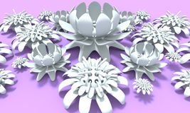Colorful 3d flower Stock Image