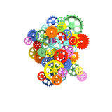 Colorful 3d gear Royalty Free Stock Photography