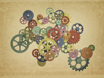 Colorful 3d gear Stock Photography