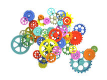 Colorful 3d gear Royalty Free Stock Images