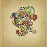 Colorful 3d gear Royalty Free Stock Photo
