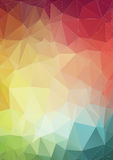 Colorful 2D geometric abstract background Stock Images