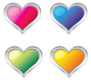 Colorful 3d Heart collection set Stock Image