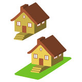 Colorful 3d house cartoon icons isolated  Royalty Free Stock Photo
