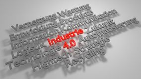 Colorful 3D Industrie 4.0 word cloud Stock Photography