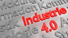Colorful 3D Industrie 4.0 word cloud Stock Images