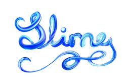 Colorful 3d lettering slime. Fun for children Stock Photography