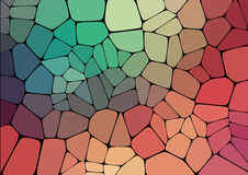 Colorful 2D mosaic abstract background. Illustration for web Stock Photo