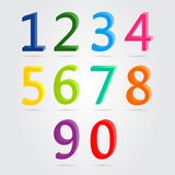 Colorful 3d numbers set. Colorful 3d numbers set on white background Stock Photo