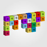 Colorful 3d objects for use as logo Royalty Free Stock Images