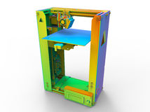 Colorful 3D printer Royalty Free Stock Photo