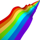 Colorful 3D rainbow ribbon Royalty Free Stock Photo