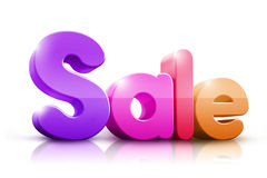 Colorful 3D Rendered Sale Word Stock Photo