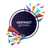 Colorful 3d shapes abstract geometric composition and circle cop. 3 demensions shapes abstract composition Stock Image