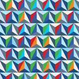 Colorful 3d spatial lattice covering, complicated op art backgro Royalty Free Stock Images