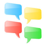 Colorful 3d speech bubbles Stock Photo