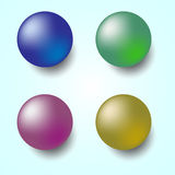 Colorful 3D sphere  on white background Stock Images