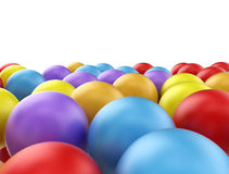 Colorful 3d spheres background. Colorful bright 3d spheres on white background Royalty Free Stock Photos